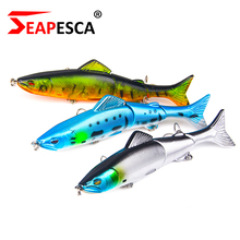 Купить с кэшбэком SEAPESCA 8 Colors New Hot Two Section Jointed Popper Pencil Fishing Lure 130mm 18g Diving Triple Hook Hard Bait Wobblers YA56