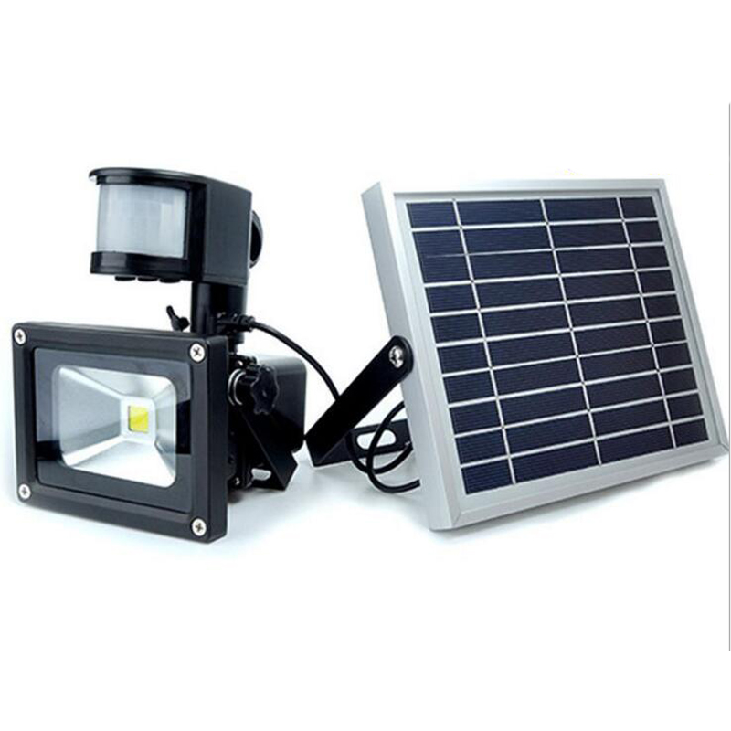 10pcs LED Solar Garden Light PIR Motion Sensor Waterproof IP65 10W 20W 30W 50W Wall Lamps Outdoor Emergency Lamp Led Floodlight 2 pcs 30w 64 led solar pir motion sensor led flood light 3600lm solar lamp ip65 solar led floodlight for outdoor garden lighting