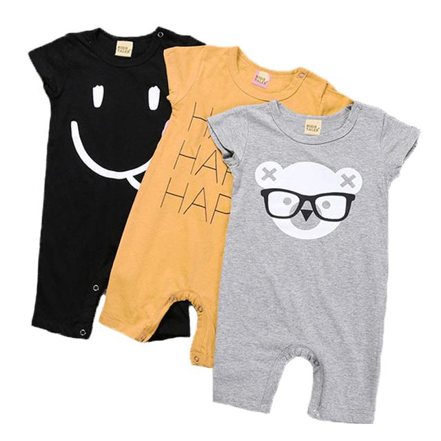 7d67882a6 Baby Boy Clothes Summer Baby Rompers 2017 Newborn Baby Clothes Cartoon Baby  Girl Clothes Infant Jumpsuits Kids Clothes