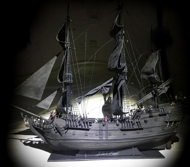 New black pearl Pirates ship wooden model kit 80cm length
