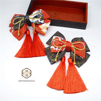 Lolita Headwear Bow Handmade Original Design Hair Accessories Chinese Style Kimono accessories A