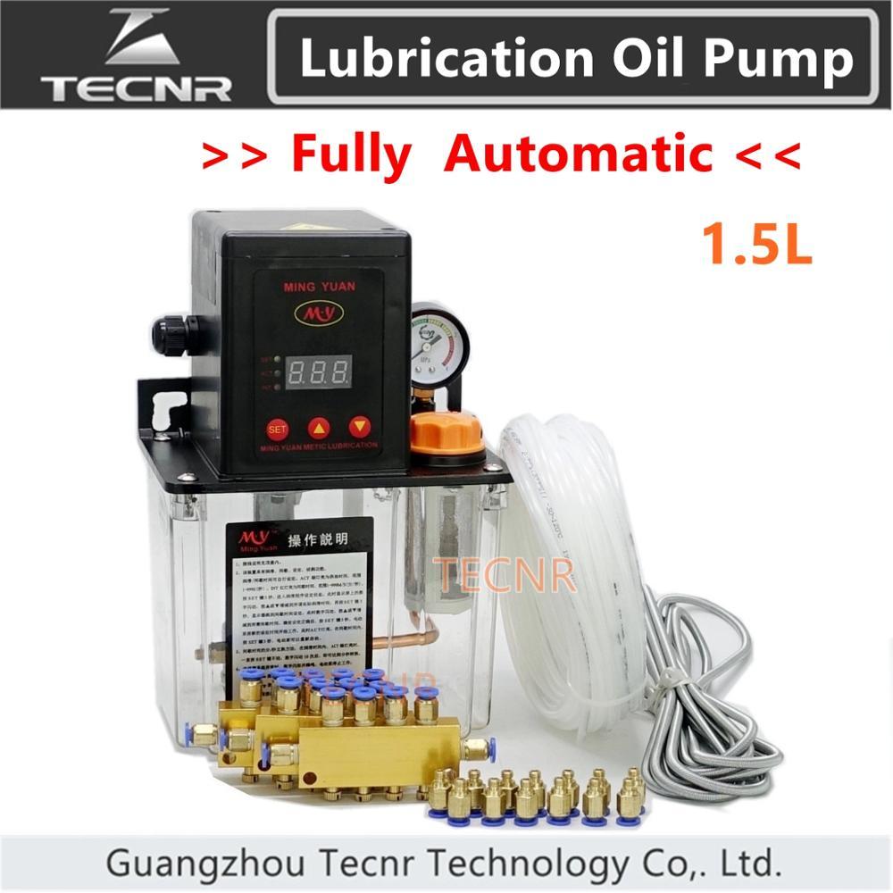 TECNR Full set CNC Automatic Lubrication oil pump 1 5L digital electronic timer gear pumps for