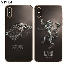 For Apple iPhone X Case 7 8 6 6S Plus 5 5S SE XS MAX XR Etui Funda Luxury Game Thrones Daenerys Dragon Jon Snow Phone case Coque