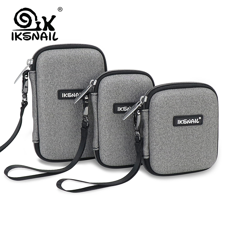 IKSNAIL Digital Case Protect Bags Box For WD Hard Drive Multi-size Power Bank USB Cable Charger External Disk Pouch