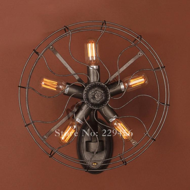 American vintage industrial fan wall lamp restaurant cafe - Lampara industrial vintage ...
