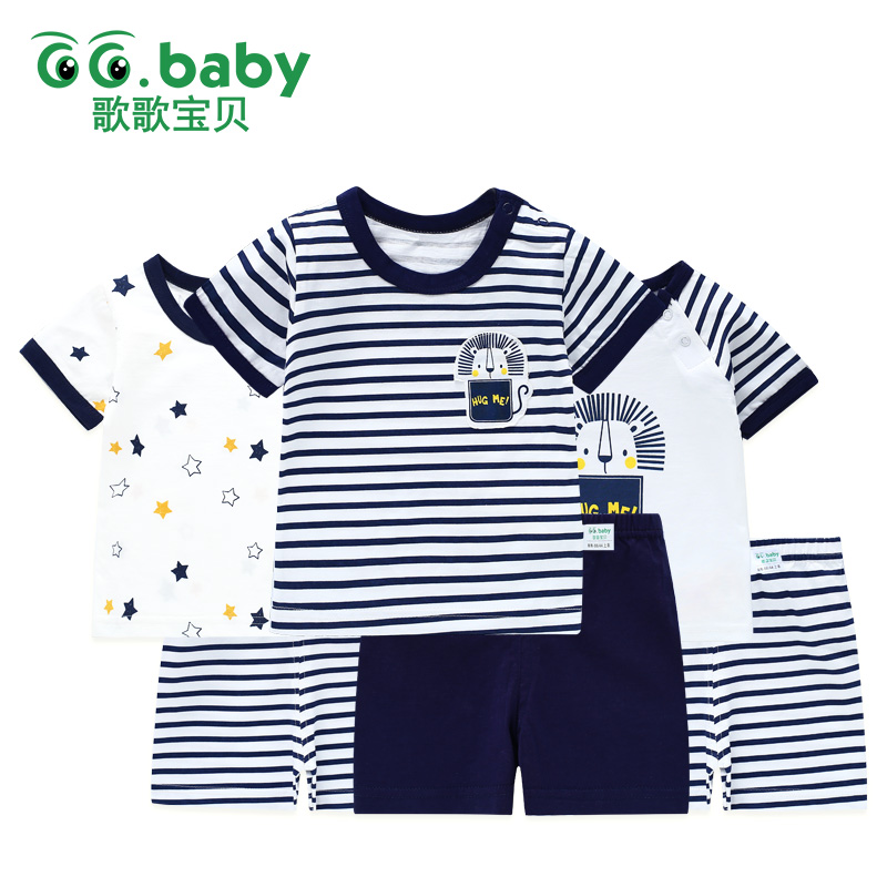 Summer Newborn Baby Outfits Baby Suit Clothing Pajamas Sets Baby Children Suits Baby Boys Girls Clothes Set Cotton Stars Outfit