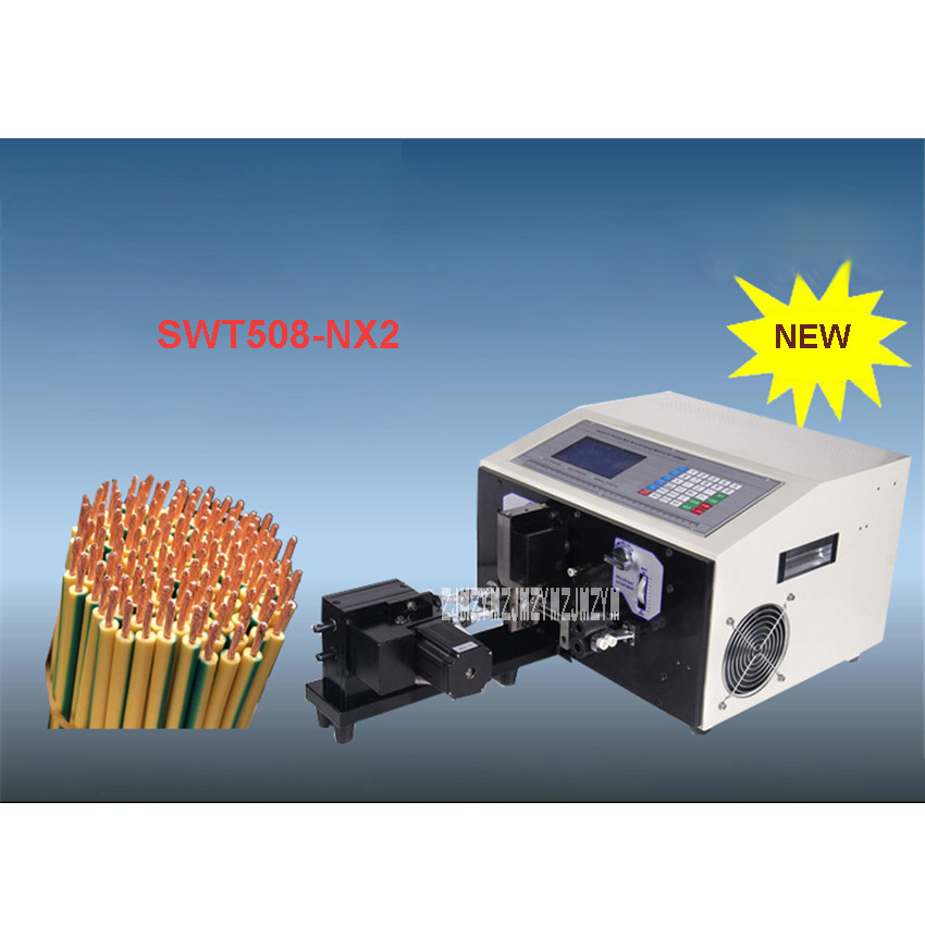 SWT508-NX2 Double Twisted Wire Automatic Computer Wire Stripping Machine/Cutting Machine 110V/220V 450W 4000-10000 Strips/Hour