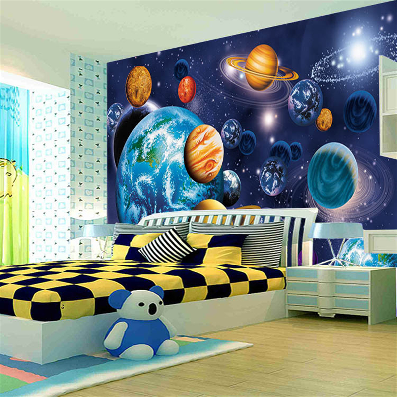 beibehang Childrens Cosmic starry sky photo murals 3d wallpaper tapete room Customize any size mural papel de parede wallpaper