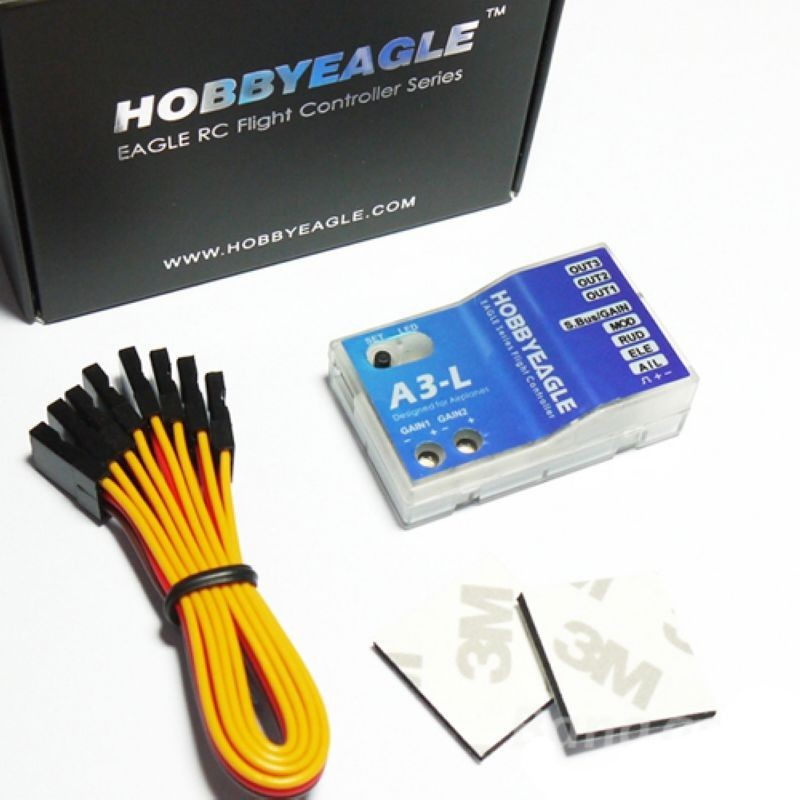 ФОТО hobby eagle 3 axis airplane gyro a3-l flight controller stabilizer