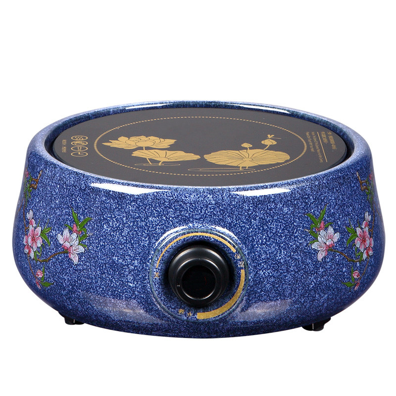 Hot Plates Boil water hand ceramic furnace iron pot boiling tea bright heart blue  white glaze electric furna water buffalo style ceramic silicone flowerpot plant pot white coffee
