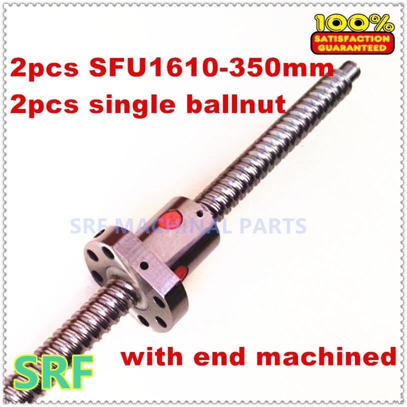ФОТО Free shipping 1pcs16mm diamater Ballscrew  SFU1610 L350 +1pcs SFU1610 ball nut  with BK/BF12 end machined for CNC part