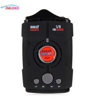 New V8 360 Degree Car Radar Detector 16 Band Russia/English version LED Display Anti Radar Detector XK NK Ku Ka Laser hot sale~