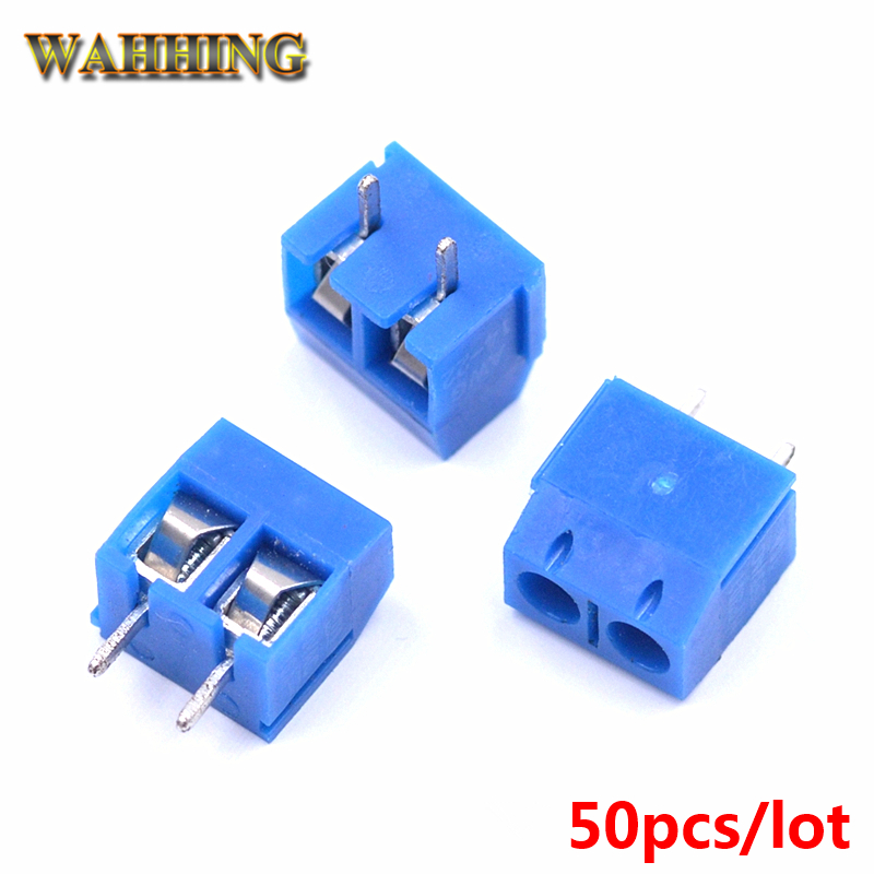 50pcs KF301 2Pin Screw Terminal Block Connector 5.0mm Pitch DIY PCB Board 2 Pin Cable Terminals Adapter 300V 15A Blue HY466 точечный поворотный светильник paulmann 99447