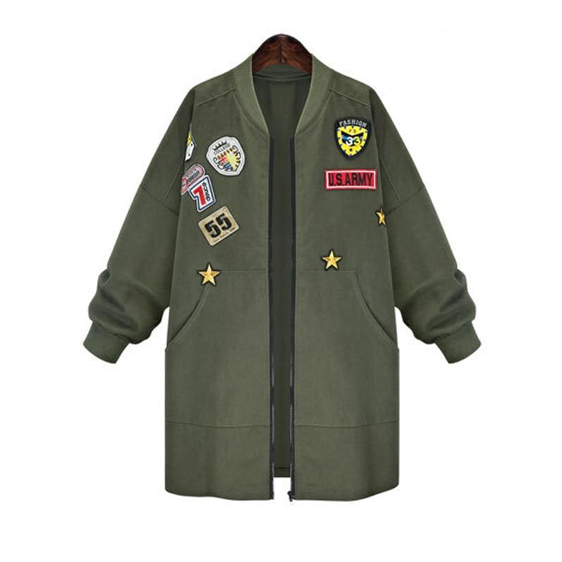 Plus Casaco Taille Coupe D'hiver Lâche Vêtements vent army Femme Nouvelle Noir Manteaux Tranchée La Feminino Manteau 2016 Femmes Ol Green Long L'europe 6Pw6qr