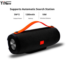 цена на Portable wireless Bluetooth Speaker Stereo big power 10W system TF FM Radio mp3 player Music Subwoofer Column Computer Speakers