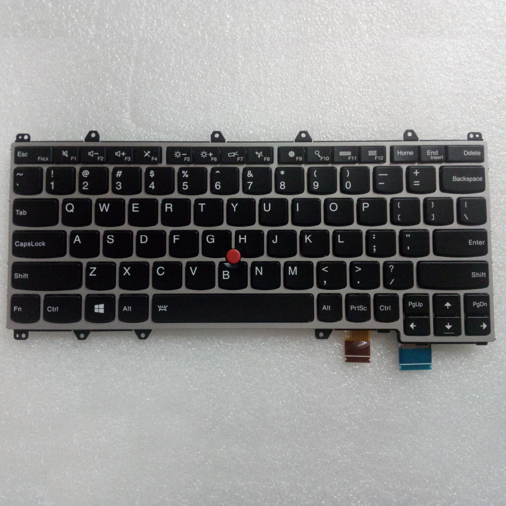 New/Original Backlight Keyboard For Lenovo ThinkPad Yoga x260 Laptop, FRU 00UR665 new original for lenovo thinkpad yoga 260 bottom base cover lower case black 00ht414 01ax900