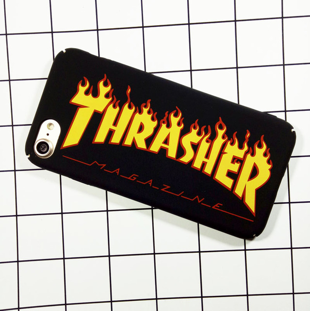 Fashion Design Letter Thrasher Case For iPhone 7 Matte Hard Plastic Cover Capa Coque For iPhone 6 6s plus Hull Shell Carcasas