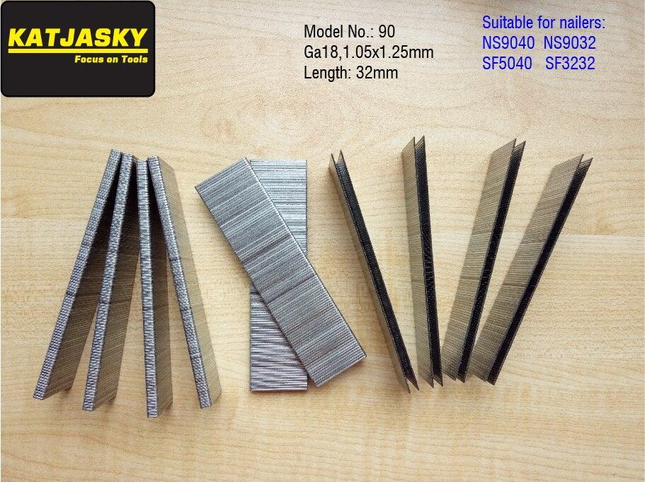32mm Staples Crwon Nails For NS9040 NS9032 SF5040 SF3232 Air Stapler Pneumatic Nailer Stapler,crown Nail,  U Nails 1000pcs/lot