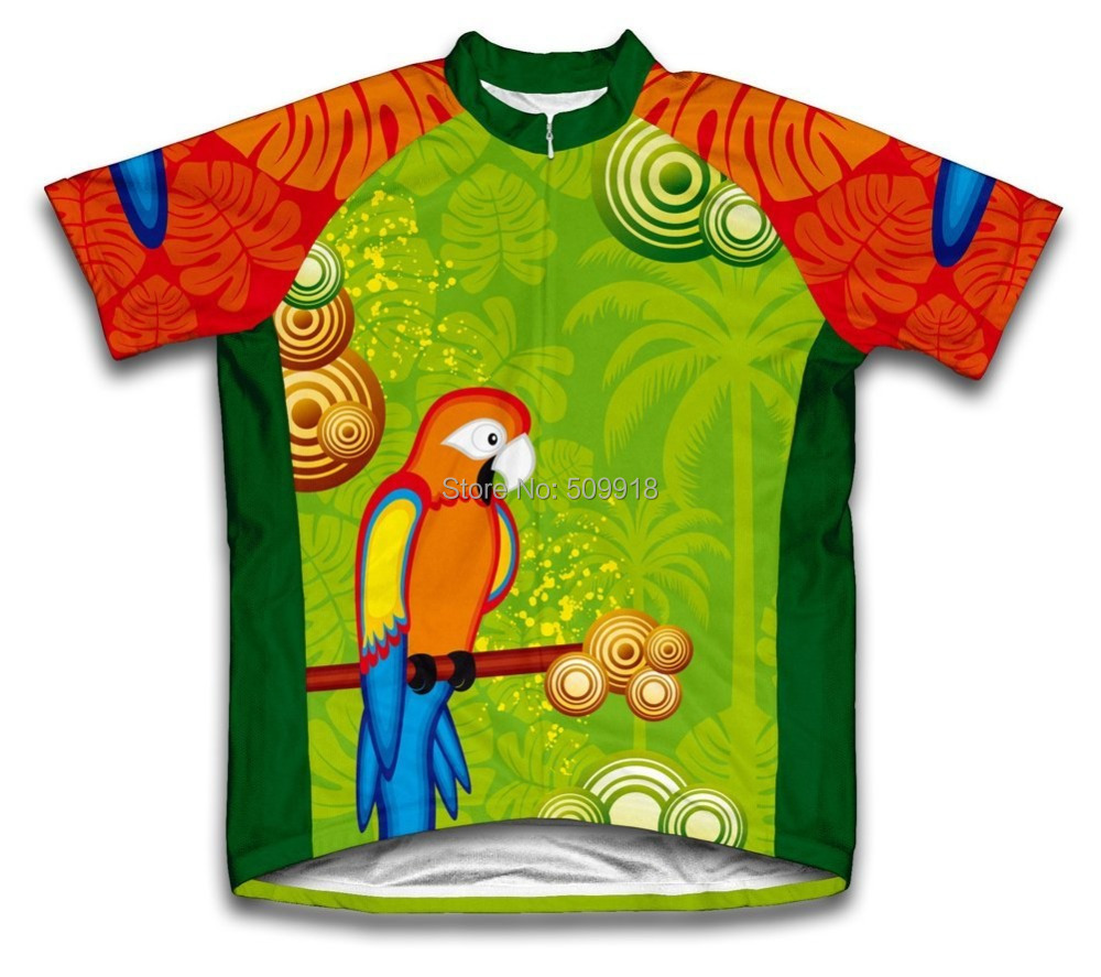 road cycling Parrot Cycling Jersey Short Sleeve bike bicycle Jerseys ropa ciclismo font b clothing b