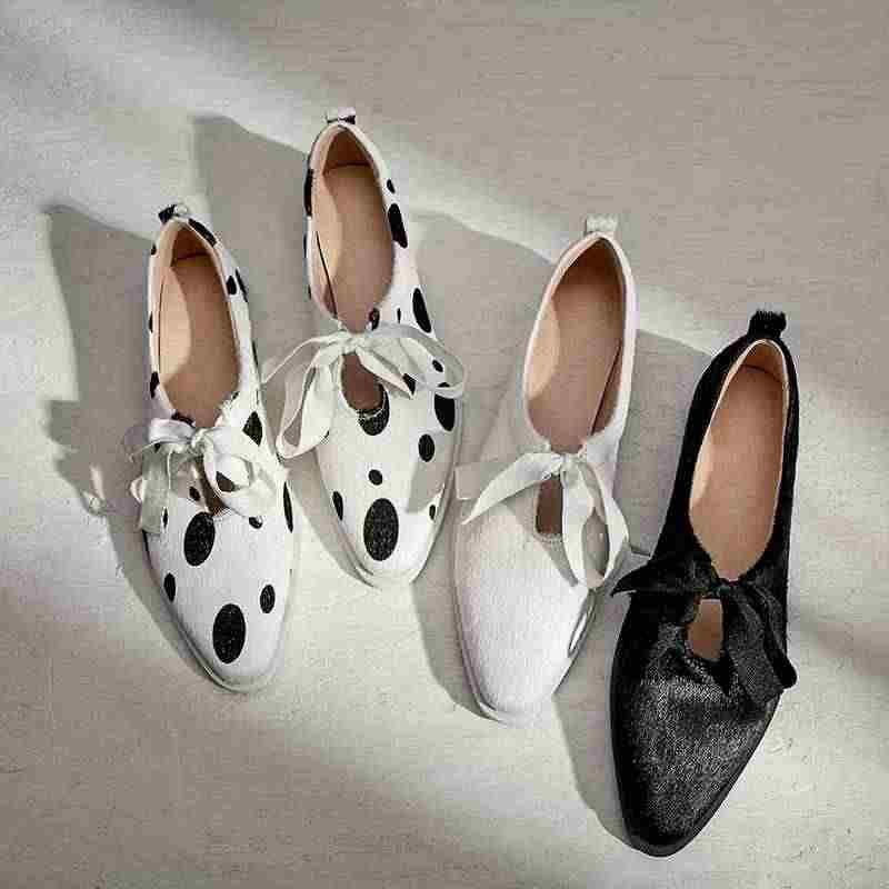 Krazing pot at kılı papyon sığ tatlı dantel up parti bahar düğün ayakkabı tatlı yuvarlak ayak kadın kalın düşük topuklu pompalar l01