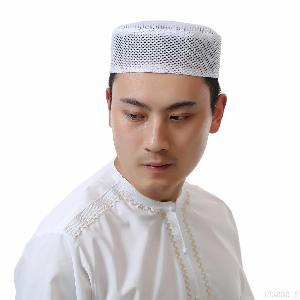 Summer Muslim Hat Cap Mesh New Men Prayer Hats Turkish Arabic Islamic Caps Headscarf Clothing Arab  Fashion