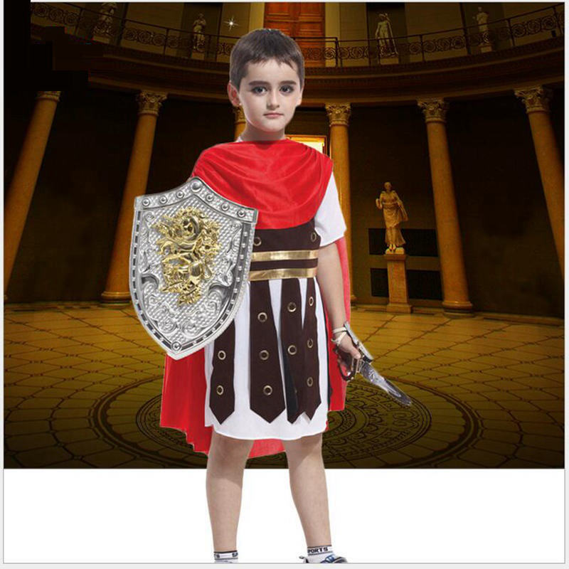 Ancient Roman Warrior Costume Cosplay For Kid Halloween Ancient Roma Warrior Cosplay Costume Different Style And Size For Choose