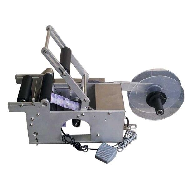 Semi Automatica Desktop Stick Etichettatura Macchina Per Bottiglie, portatile Macchina Etichettatrice