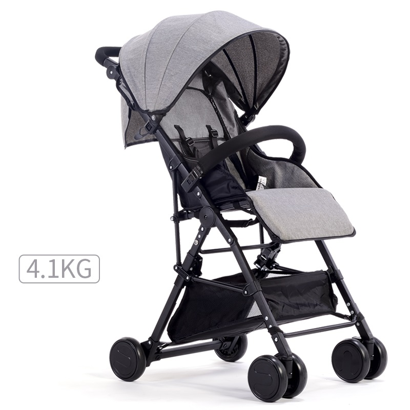 Simple Fashion Style High-Landscape Baby Stroller 9 Colors Linen Cloth Baby Carriage Pram Light Weight Folding Baby Stroller Car цена 2017