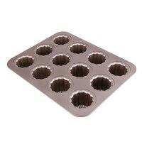 12/14โพรงรอบมัฟฟินถ้วยเค้ก3Dไม่ติดปล่อยง่ายและสะอาดเค้กแม่พิมพ์บิสกิตกระทะBakeware