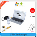 5.5mm lens USB Android Endoscope Waterproof Snake Tube Pipe Inspection Mini Camera 2M 5M 10M Borescope Waterproof USB Endoscopio