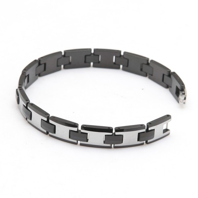 tungsten carbide bracelet Hot selling High Polished Unisex Men's Tungsten Steel bracelet Length: 22.5cm