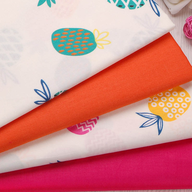 100 Cotton Twill Cloth Offwhite Cute Fruit Orange Rose Red Pinele Fabrics For Diy Crib