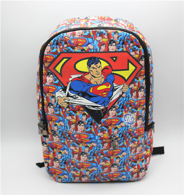 superman backpack anime bag cosplay Comics Backpack shoulder computer school Book Bag anime tokyo ghoul cosplay anime shoulder bag male and female middle school student travel leisure backpack