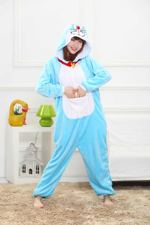 ... Симпатичные Единорог взрослых фланелевые пижамы животных панда стежка  женские топы сна Пижама Косплей Комбинезоны пижамы мультяшный ... 4ed6eb83ec217