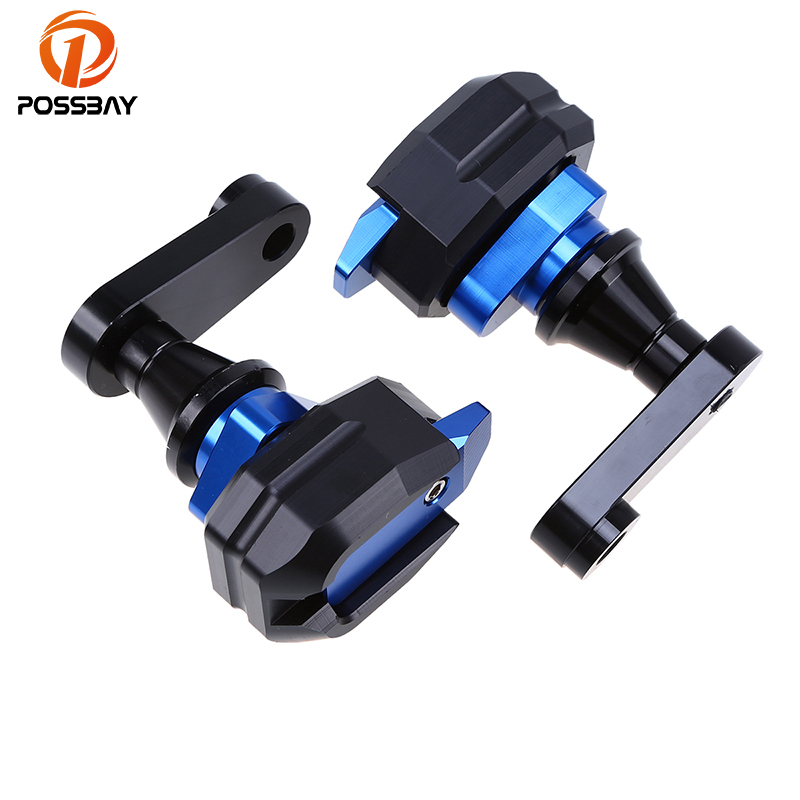 POSSBAY Right&Left Motorcycle Frame Sliders Protector Motocross Anti Crash Pad Fit for Honda CBR1000 2004 2005 2006 2007