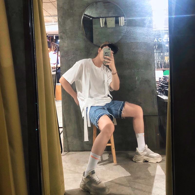 Plus Ruban De Manches Vêtements T Blanc Couleur Courtes Styliste Taille Pur shirt Bref 2018 5xl Chanteur La Double À Nouveau Hommes Cheveux S Costumes qwX7U6X