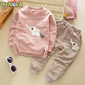 Menoea 2017 Autumn Fashion Style Cartoon Baby Boy Clothing Set Elephant Print T-Shirt + Pants 2 Pcs Suit For Kids Clothing Sets
