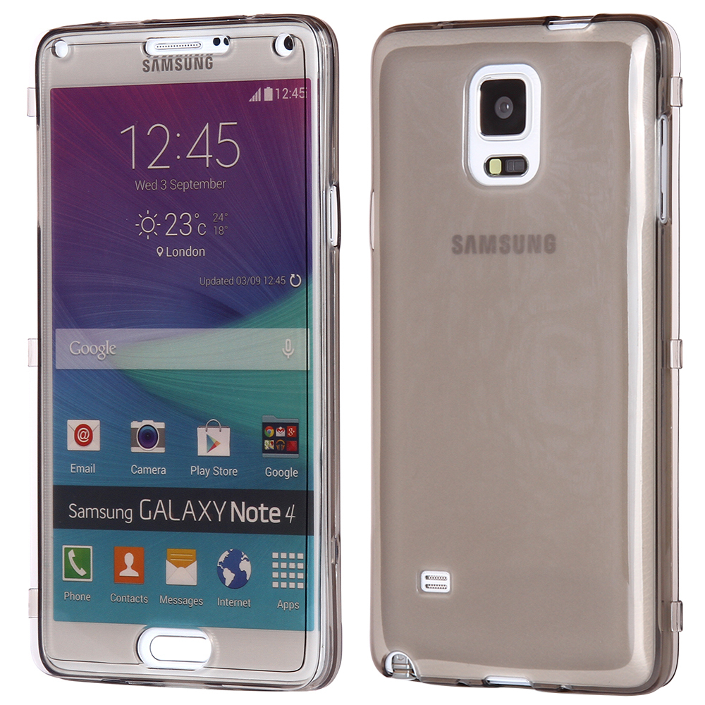 Kisscase Crystal Transparent Flip Display Cover For Samsung Galaxy Note  4 Clear Case Soft Silicon Phone
