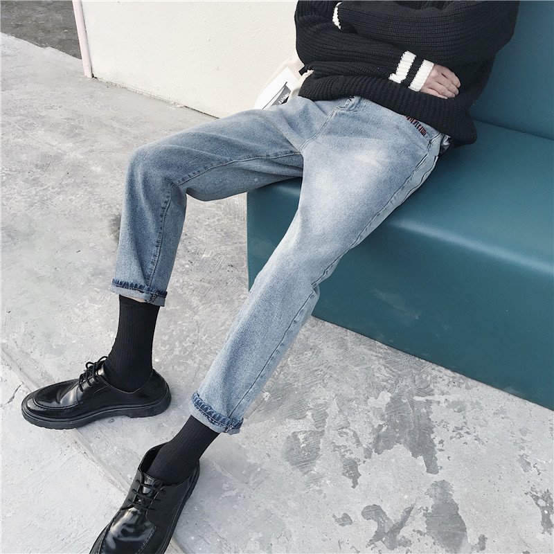 2018 Spring New Men's Fashion Hip-hop Style Classic Haren Pants Baggy Thicken Straight Length Jeans Casual Denim Trousers S-2XL