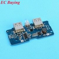5 Pcs Dual Micro USB 3 7v To 5V 2A Mobile Power Bank DIY 18650 Lithium