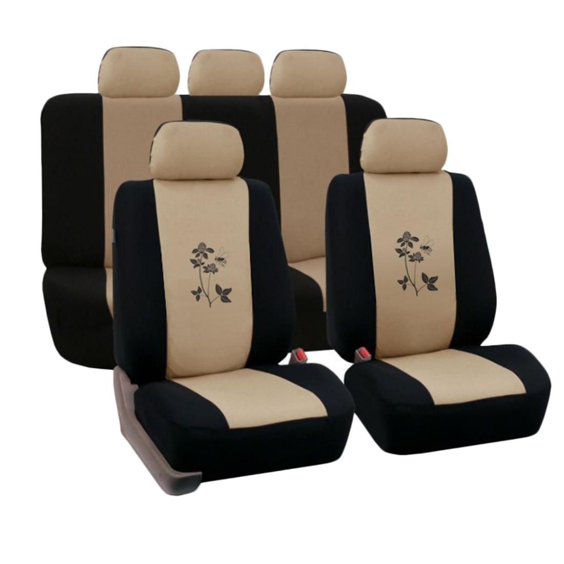 Dewtreelita Universal Car Seat Protector Printing Auto Seat Cover font b Interior b font Accessories Blue