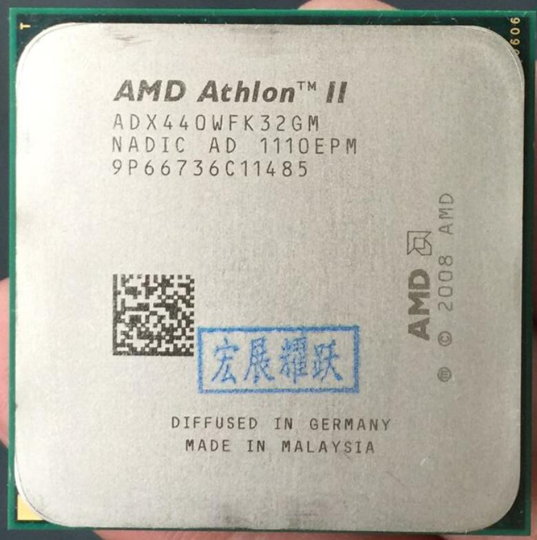 AMD Athlon II X3 440  X440 Three Core AM3 938 CPU 100% Working Properly Desktop Processor