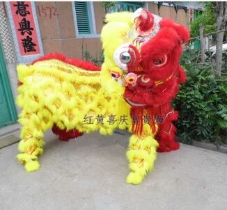 Personalized chinese lion dance costume ADULTS new year performance chinese lion dancer clothing ...