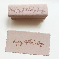 Mother'day rubber wooden stamps for scrapbooking carimbo postcard or bookmark scrapbooking stamp 6*2cm stempel