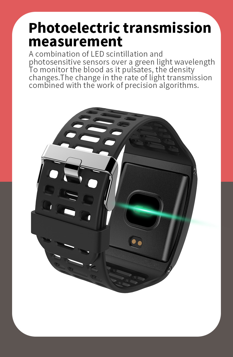 Z01 Smartwatch IP67 Waterproof Wearable Device Bluetooth Pedometer Heart Rate Monitor Color Display Smart Watch For AndroidIOS (8)