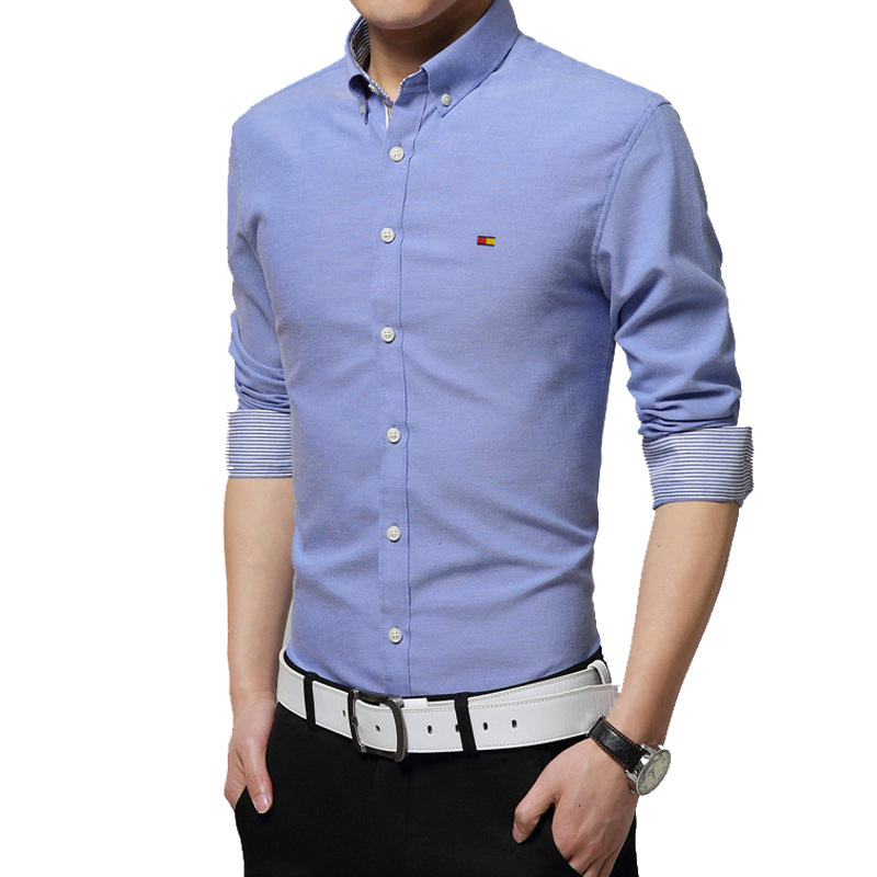 2015 new brand men shirts long sleeve male business casual for Mens formal dress shirts