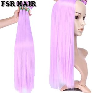 Мягкие шелковистые волосы, прямые, фиолетовые, розовые, зеленые, 22 дюйма, 100 г, цельные, Tissage, синтетические волосы для наращивания