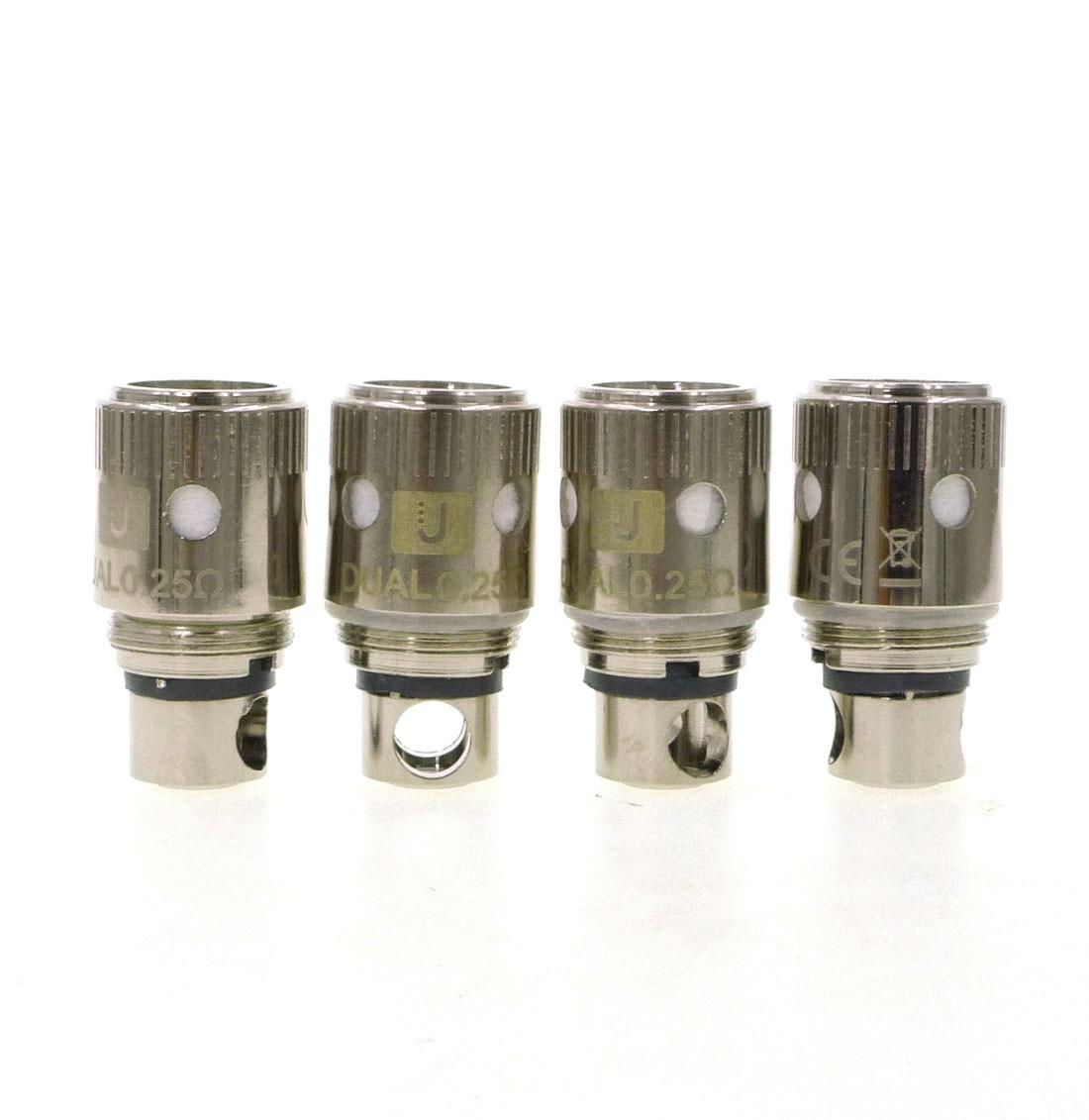4Pcs Crown Sub-Ohm Tank Replacement Head DUAL COIL 0.25/0.5 Ni200 0.15ohm