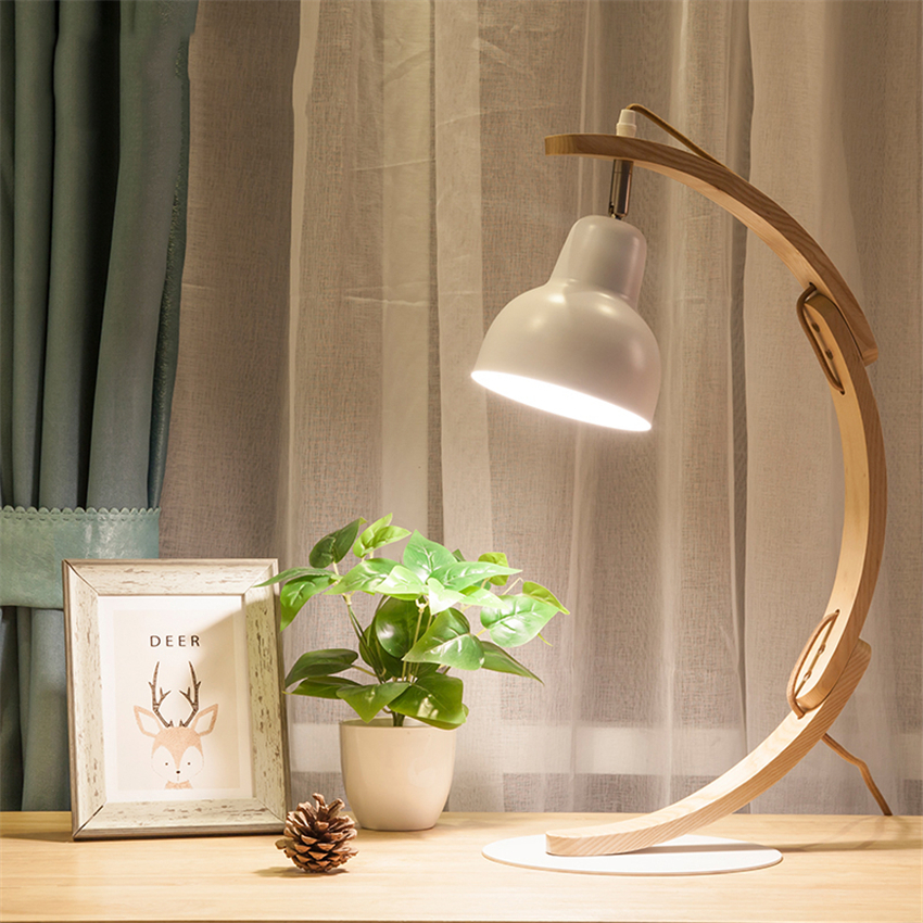 Anese Led Solid Wood Art Table Lamps