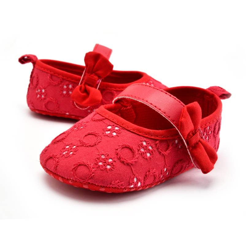 Fashion First Walkers Moccasins Cotton Fabric Hook & Loop Baby Girls Boys Shoes Toddler Prewalkers 4 Color Available